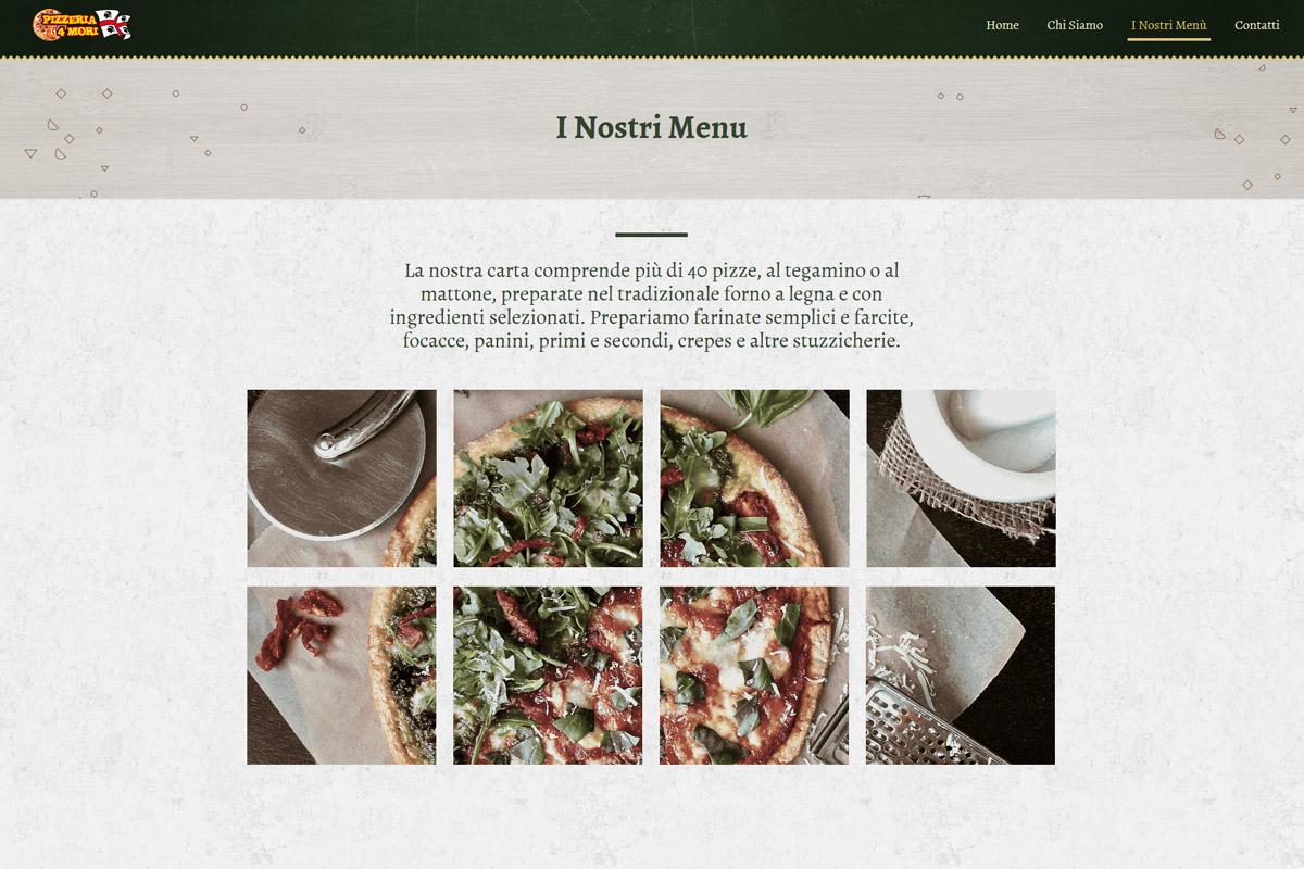 sito internet pizzeria e ristorante